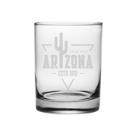 Rocks Glasses // Arizona State Vintage Series // Set of 4