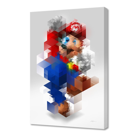 """Super Mario (16""""W x 24""""H x 1.5""""D)"""
