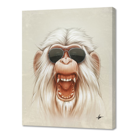 "The Great White Angry Monkey (16""W x 24""H x 1.5""D)"