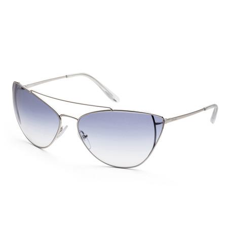 Women's PR65VS-1BC8V168 Fashion Sunglasses // Silver + Light Blue