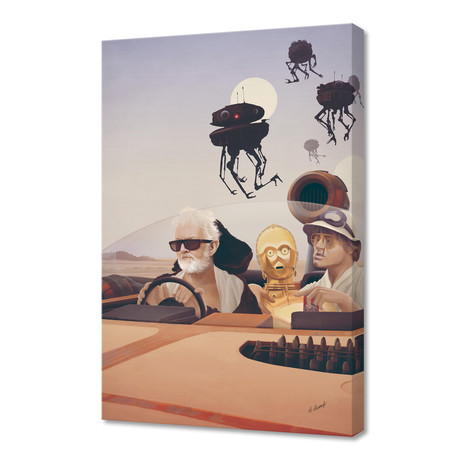 """Fear and Loathing on Tatooine (16""""W x 24""""H x 1.5""""D)"""