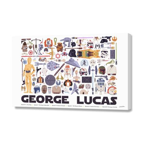"George Lucas (16""W x 24""H x 1.5""D)"