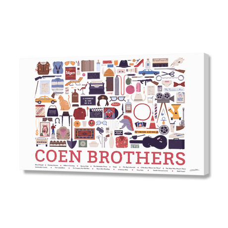 """Coen Brothers (16""""W x 24""""H x 1.5""""D)"""