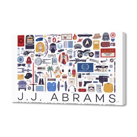"""J.J. Abrams (16""""W x 24""""H x 1.5""""D)"""