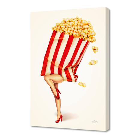 "Popcorn Girl (16""W x 24""H x 1.5""D)"