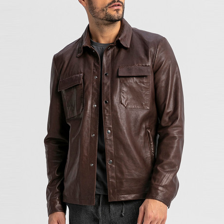 Squire Leather Jacket // Brown (S)