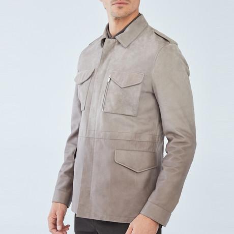 Shel Leather Jacket // Beige (S)
