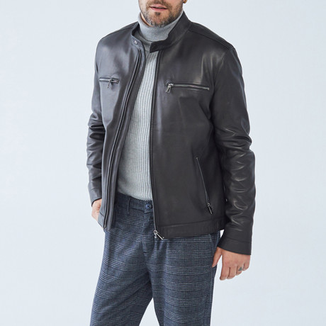 Selby Leather Jacket // Black (S)
