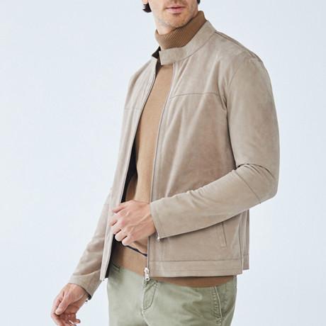 Scot Leather Jacket // Beige (S)