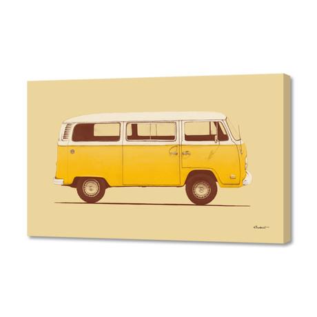 """Yellow Van (16""""W x 24""""H x 1.5""""D)"""