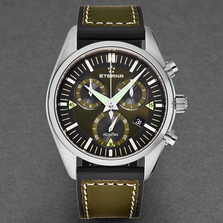 Eterna KonTiki Chronograph Quartz // 1250.41.50.1360 // New