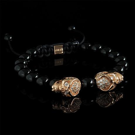 Phantom Bracelet // Black + Rose Gold (Small)