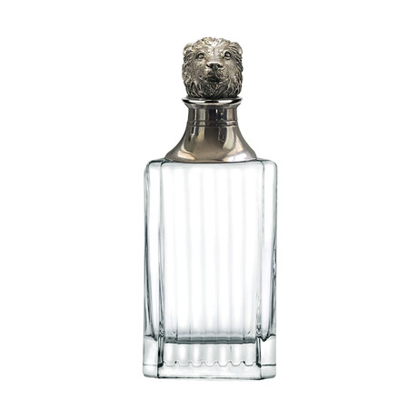 Menagerie Classic Crystal Whiskey Decanter // Lion