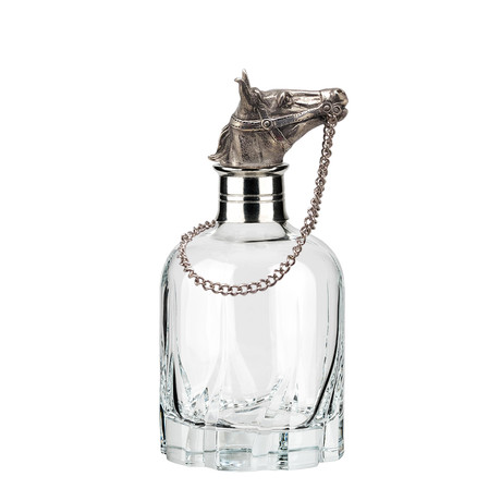 Menagerie Modern Crystal Whiskey Decanter // Horse