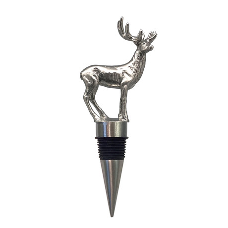 Menagerie Stainless Steel Wine Stoppers // Stag