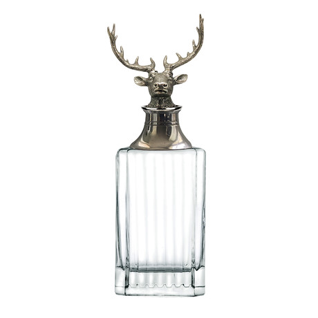 Menagerie Classic Crystal Whiskey Decanter // Stag