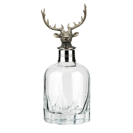 Menagerie Modern Crystal Whiskey Decanter // Stag