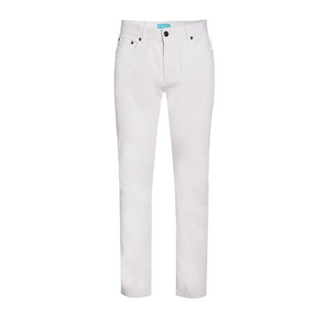 Twill Slim Stretch Jeans // White (28WX30L)