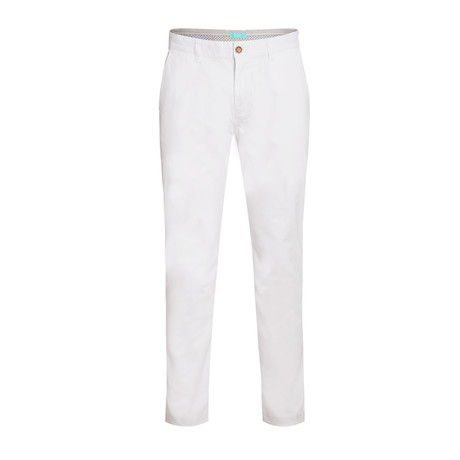 Cotton Stretch Slim-Fit Chinos // Snow (32WX30L)