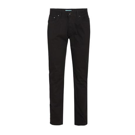 Twill Slim Stretch Jeans // Black (28WX30L)