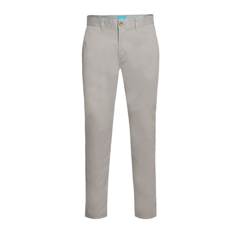Cotton Stretch Slim-Fit Chinos // Gray (32WX30L)
