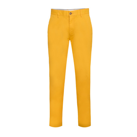 Cotton Stretch Slim-Fit Chinos // Canary (32WX30L)