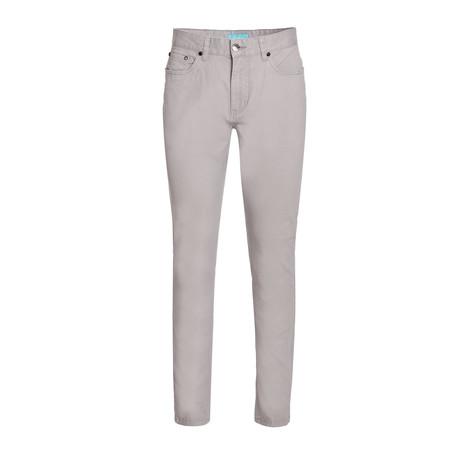 Twill Skinny Stretch Jeans // Gray (28WX30L)