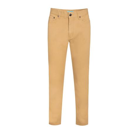 Twill Skinny Stretch Jeans // Khaki (28WX30L)
