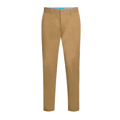 Cotton Stretch Slim-Fit Chinos // Cappuccino (32WX30L)