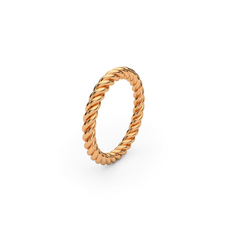 Ohitli Twined Ring // 22K Gold Plated (Size 5)
