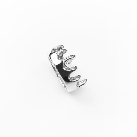 Melting Ring // Sterling Silver (Size 5)