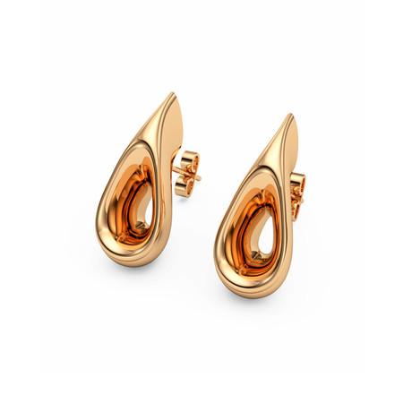 Sculptural Earrings // 22K Gold Plated