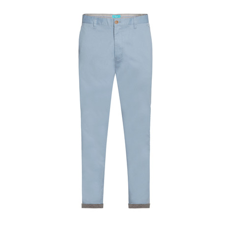 Cotton Stretch Slim-Fit Chinos // Sky (32WX30L)