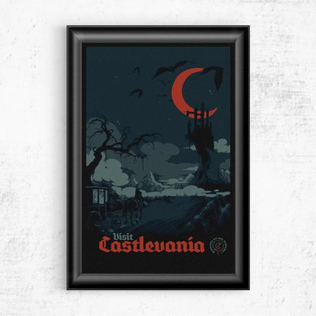 "Visit Castlevania (11""W x 17""H)"