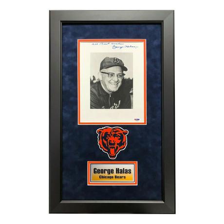 George Halas // Signed + Framed Chicago Bears Photo