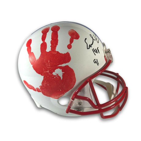 Earl Campbell // Authentic Hand Print + Signed Houston Oilers Helmet