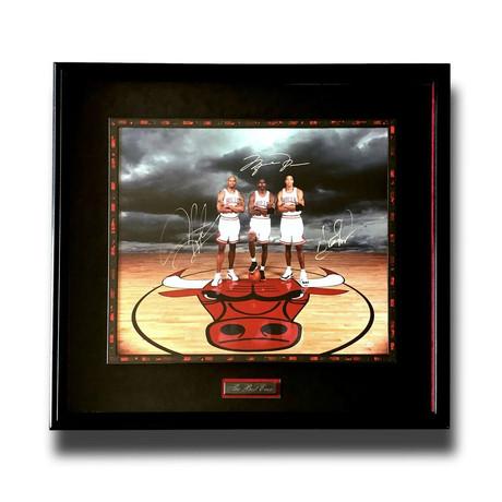 Jordan + Pippen + Rodman // Signed + Framed Bulls Photo