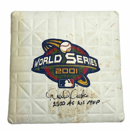 Derek Jeter // Signed 2001 Yankees Vs. Diamondbacks World Series Game Used Base