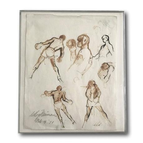 Original 1/1 LeRoy Neiman Hand Drawn Sketch Of Muhammad Ali