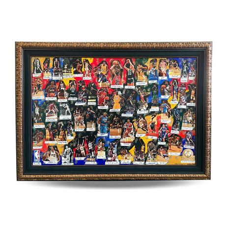 60 Greatest NBA Players Signed Canvas