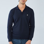Boris Becker // Elios Long Sleeve Polo // Navy (X-Large)