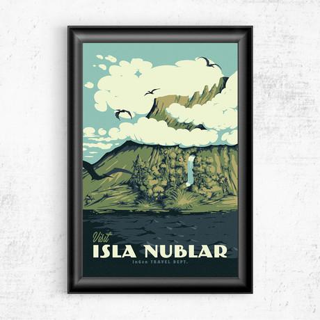 "Visit Isla Nublar // Jurassic Park (11""W x 17""H)"