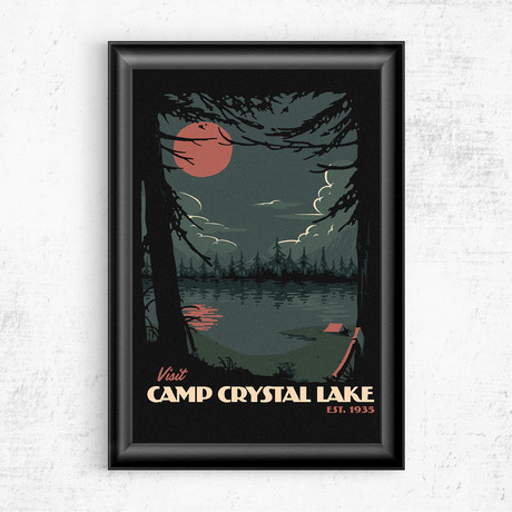 "Visit Crystal Lake // Friday the 13th (11""W x 17""H)"