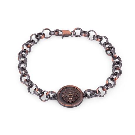 Lion's Head Bracelet // Black