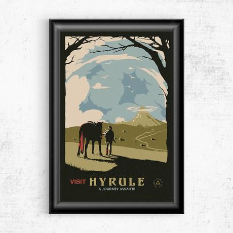 """Visit Hyrule // Legend of Zelda (11""""W x 17""""H)"""