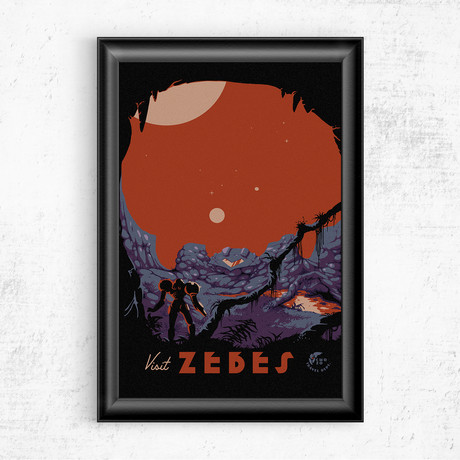 "Visit Zebes // Metroid (11""W x 17""H)"