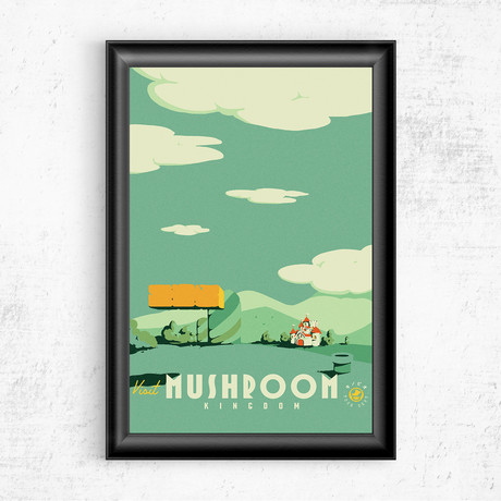 "Visit Mushroom Kingdom // Mario (11""W x 17""H)"