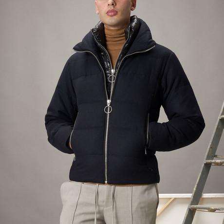 Wool Puffer // Navy (XS)
