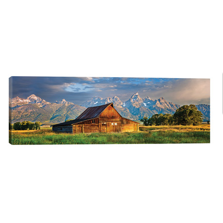 "Grand Teton Panorama, Grand Teton National Park, Wyoming // Susanne Kremer (60""W x 20""H x 0.75""D)"