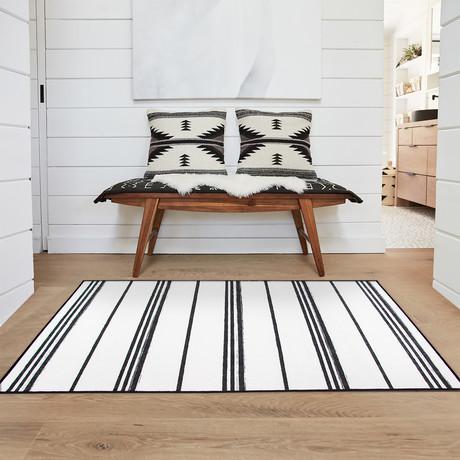 """Black + White Stripe (36""""L x 60""""W x 0.25""""H)"""